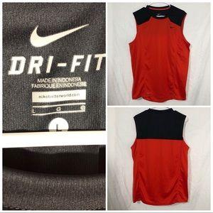 Nike DriFit sleeveless tee size large